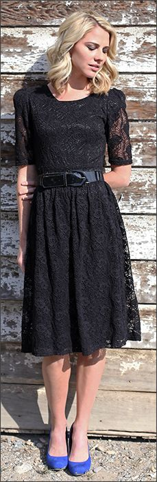 Abby Lace Dress [MDF2503] - $69.99 : Mikarose Fashion, Reinventing Modest Fashion