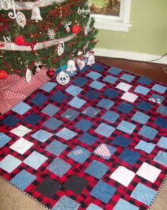 My Quilt Diet...: Denim Quilts for Christmas