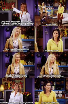 """Are you still here?"" -Monica"