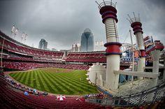Great American Ballpark.  Home of the Cincinnati Reds!
