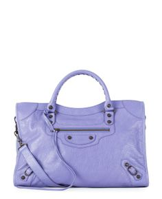Balenciaga Classic City Bag in Purple Pastel