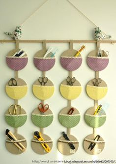 With old CDs. Great idea!