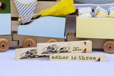 Cute whistle train favors! Vintage Train themed birthday party via Kara's Party Ideas KarasPartyIdeas.com Printables, favors, games, invitations, and MORE! #trainparty #karaspartyideas