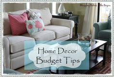 Home Decor Budget Tips