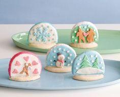 Snowglobe cookies, so cute!
