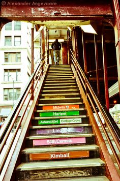 Chicago Loop Stairs.  ~ Chicago, Illinois