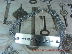 Master Handstamped Chainmaille Bracelet by aislinnscollared, $17.00
