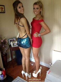 Sexy tight dress babes