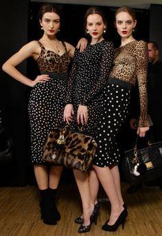 polka dots & leopard!