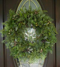Summer Wreath Door wreathFern WoodlandYear Round by forevermore1, $89.00