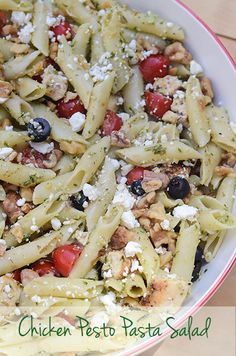 Chicken Pesto Pasta Salad 158 (titled) @Valerie Avlo Avlo | From Valerie's Kitchen