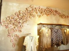 Book page flowers wall decor. Love this!