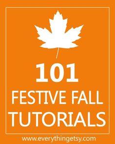 Fall DIY Tutorials - 101 Festive Fall Tutorials - EverythingEtsy.com