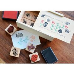 Garden Rubber Stamp Set - for DIY cards and wrapping paper