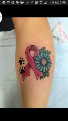 Dog cancer tattoo