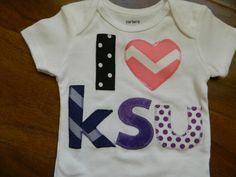 Kansas State Wildcat Bodysuit, Kansas State Wildcat Baby Outfit, KSU Shirt on Etsy, $20.00