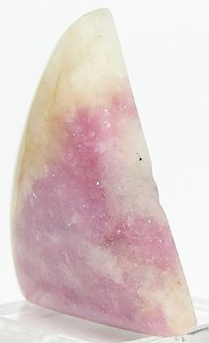 Lepidolite Mica Cabochon, Soothing Pink Color in White Albite