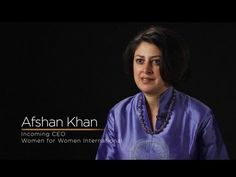 """Meet Afshan Khan, Women for Women International's New CEO. After over 20 years at UNICEF, Afshan was appointed as CEO of WfWI in April 2012, becoming only the second CEO in the organization's history. She says: """"The next generation of leader will be shaped by women."""" #WINS2012 www.wins2012.org"""