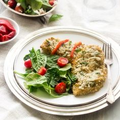 Crusted Quinoa Chicken Recipe with Goat Cheese - Food Faith Fitness