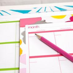 Capri Monthly Desk Pad