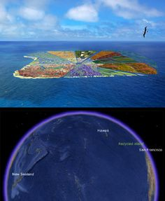 Recycled island - urban concept by Whim Architecture | A team of Dutch researchers are planning to make an island the size of Hawaii entirely from 44 million kilograms of plastic waste.