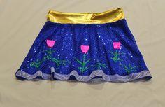 Misses Frozen Inspired Athletic Skirt-Anna on Etsy, $30.00