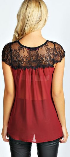Two tone blouse