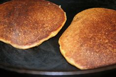 pumpkin-pancakes-cooking-on-cast-iron