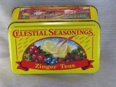 Vintage Celestial Seasonings Tea Tin Box