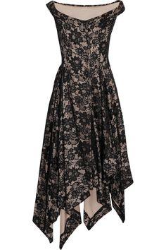 Vivienne Westwood Anglomania Saturday asymmetric lace dress  NET-A-PORTER.COM