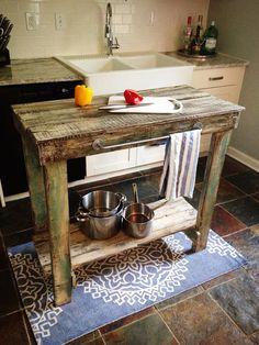 Reclaimed Wood Kitchen Island by JMRestorationCo on Etsy, $299.00