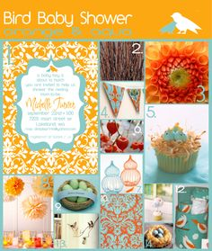 beautiful colors! cute babyshower ideas