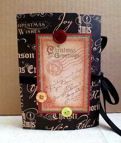 Christmas Memory Box Mini Album - #minialbums #minibooks