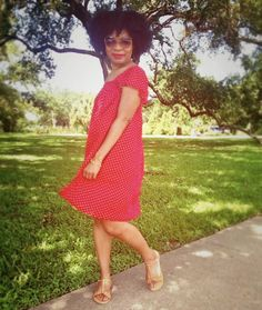 Hip Candy: New Sandals and a Throwback #DIY Red Dress... #fashion #sewing