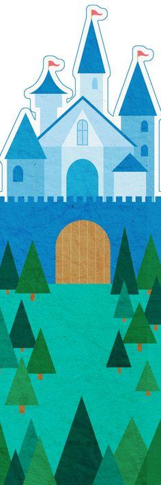 Fairy Tale Castle -- Free printable bookmark