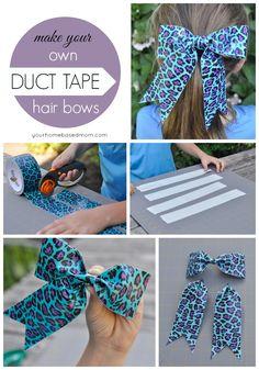 DIY Duct Tape Hair Bows | YourHomebasedMom.com