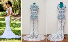 This Bride Crocheted Her Wedding Dress On The Bus toWork!