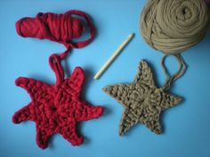 my world of wool: tutorial how to make a star with trapillo