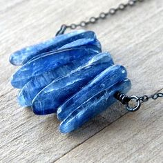 Shards of Beach Blue Kyanite sticks