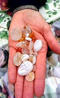Agates from Agate Beach at Patrick's Point, California