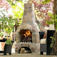 outdoor fire place/chimnea