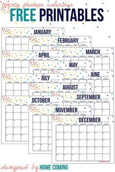 2014 Free Calendar Printables