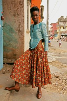 African street style. Love her jacket.
