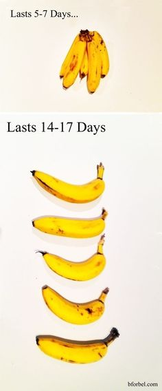 Break your bananas apart to make them last longer.