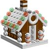 LEGO gingerbread house part list & building guide.