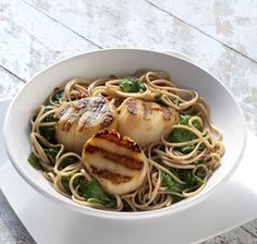 Recipe of the Week - Spiced Scallops with Spinach and Soba Noodles
