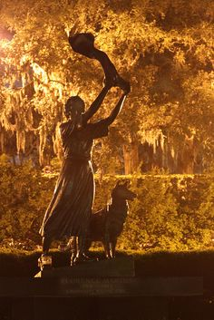 Waving Girl (Florence Martus) in Savannah GA by mb0168, via Flickr