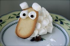 Sheep Cookies from Milanos and Marshmallows