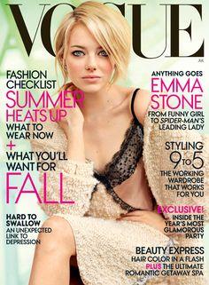 Emma Stone makeup, Vogue mag