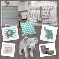 love these colors for a baby's room